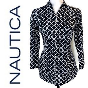 Nautica Wrinkle Resistant Button Up Dress Shirt S